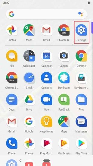Settings in AppDrawer DzTechs - كيفية تسجيل الشاشة بميزة مدمجة في Android 10
