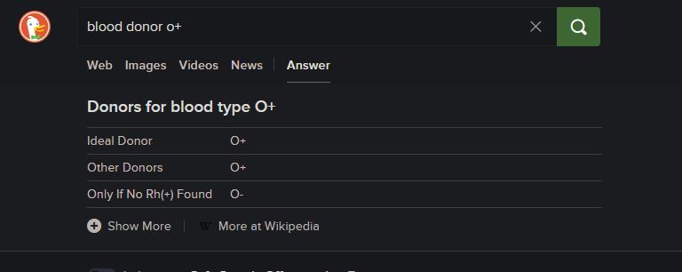14 est l'une des meilleures fonctionnalités de DuckDuckGo qui n'est pas disponible dans la recherche Google.