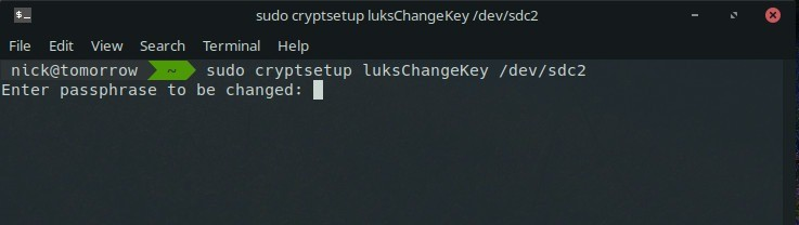 Comment modifier les phrases de passe pour le cryptage LUKS - Linux