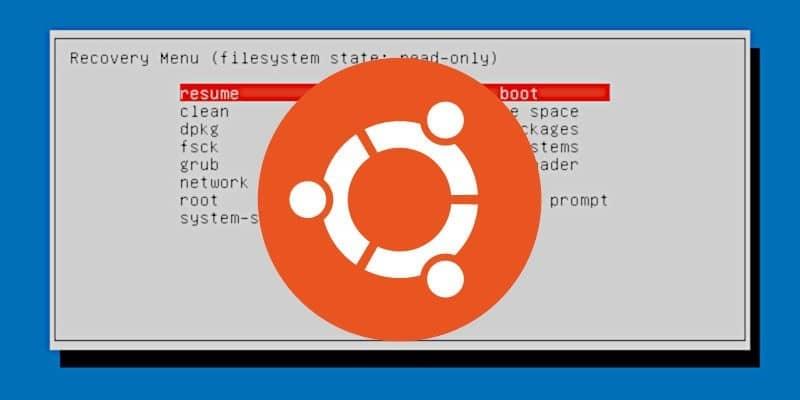 Comment démarrer en mode de récupération (mode sans échec) dans Ubuntu - Linux