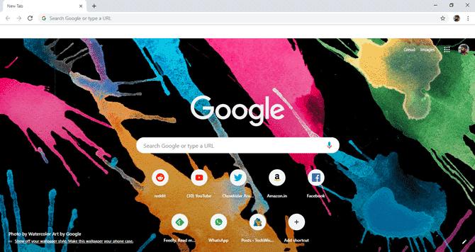 Comment définir un fond d'écran personnalisé sur l'écran d'accueil de Google Chrome