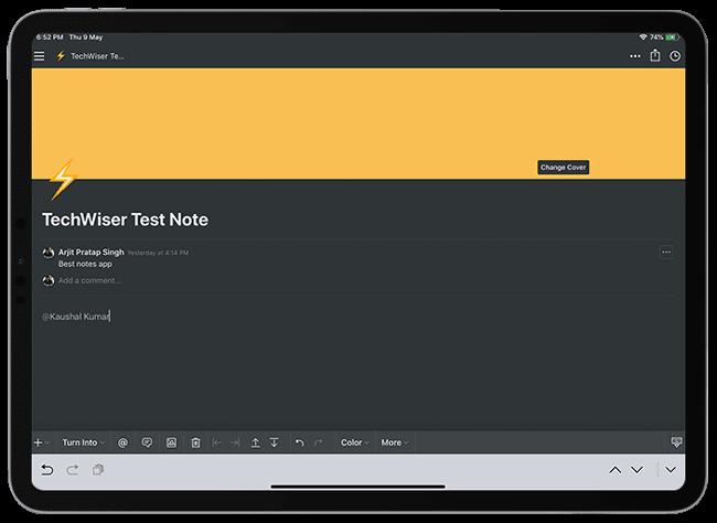 أفضل تطبيقات تدوين الملاحظات لجهاز iPad Pro