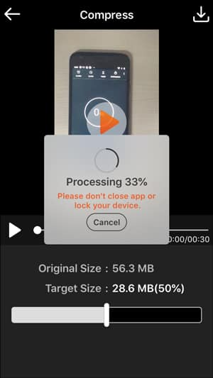IMG 0180 DzTechs - ضغط مقاطع الفيديو المسجلة من خلال iPhone للبريد الإلكتروني و WhatsApp