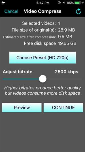 IMG 0196 DzTechs - ضغط مقاطع الفيديو المسجلة من خلال iPhone للبريد الإلكتروني و WhatsApp