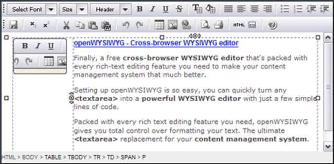 Meilleure application open source pour éditer le HTML WYSIWYG