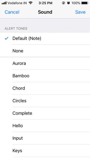 Select a tone DzTechs - كيفية تخصيص نغمة الإشعارات لكل جهة اتصال على WhatsApp