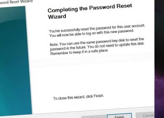 Comment créer un disque de réinitialisation de mot de passe Windows 10 à l'aide d'une clé USB - Windows