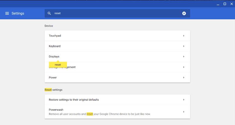كيفية إعادة تعيين أو عمل Powerwash لجهاز Chromebook