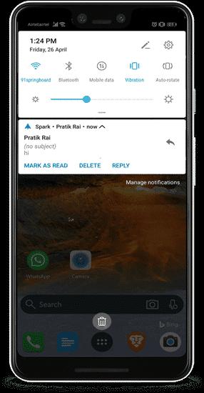 quick action min DzTechs - الميزات والنصائح المخفية لـ Spark for Android