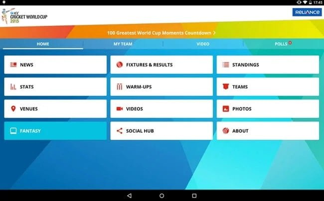 تنزيل Cricket World Cup لنظام iOS و Android و Windows Phone - هواتف
