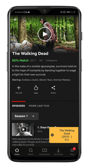بعض النصائح والحيل لـ Netflix لأولئك الذين يشاهدون هذه الخدمة على الهاتف المحمول - شروحات