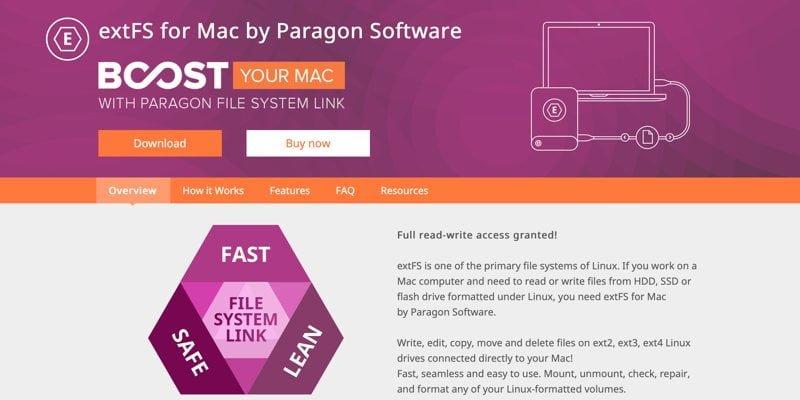 كيفية تركيب و الوصول إلى قسم Ext4 في نظام التشغيل Mac