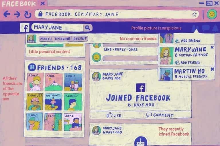 كيفية اكتشاف طلب صداقة وهمي على مواقع التواصل الإجتماعي - FaceBook شروحات