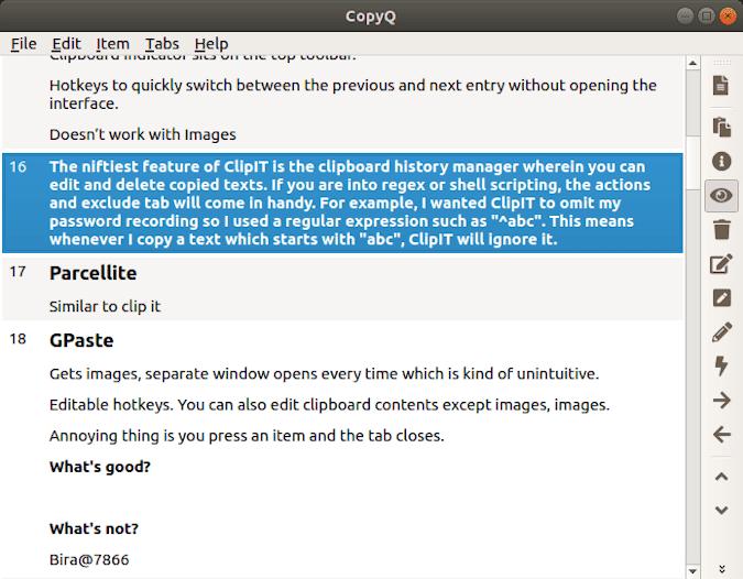 أفضل مديري الحافظة لنظام Ubuntu لتتبع محتويات الحافظة