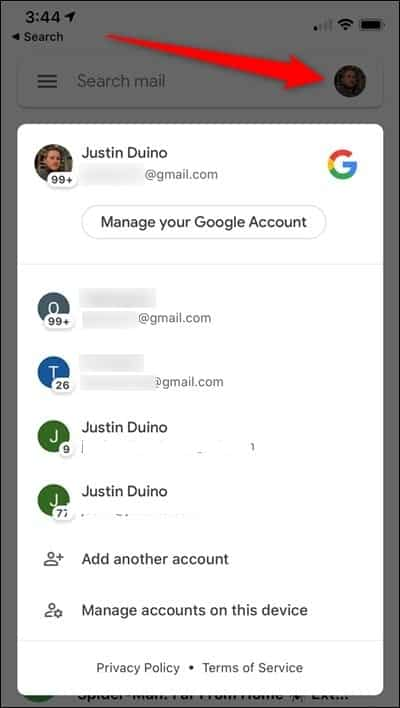 Comment basculer rapidement entre les comptes Gmail sur Android et iOS - Articles