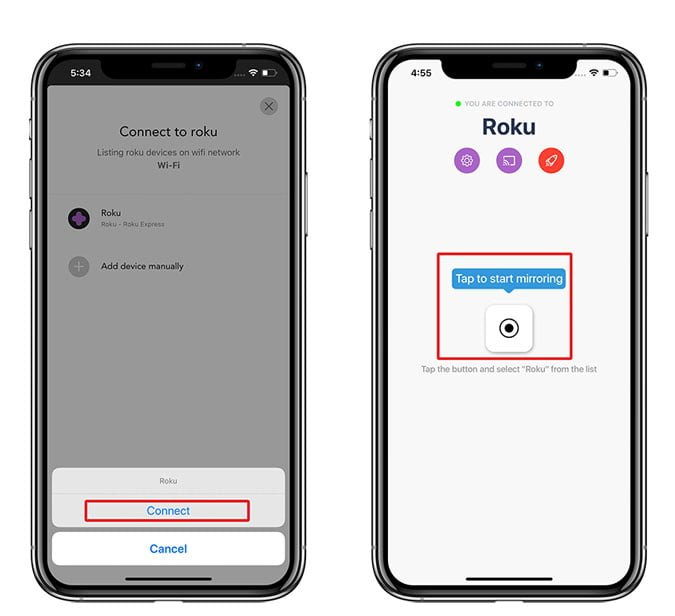 كيفية عرض شاشة جهاز iPhone / iPad على Roku