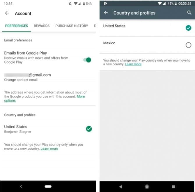 Comment Changer Votre Pays Region Dans Le Google Play