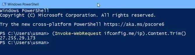 كيفية التحقق من عنوان IP العام باستخدام سطر الأوامر في Windows 10 - الويندوز