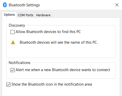 bluetooth settings DzTechs - كيفية تشغيل أو إصلاح Bluetooth على Windows10 ؟ حل جميع المشاكل