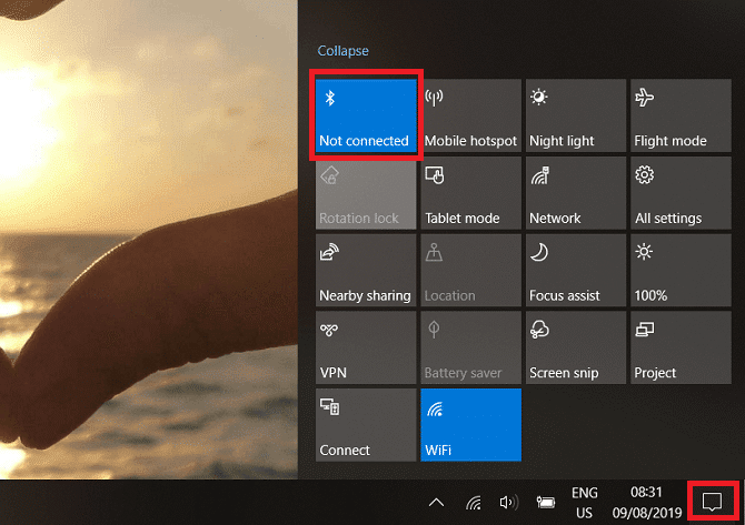 turn on bluetooth windows 10 670x473 DzTechs - كيفية تشغيل أو إصلاح Bluetooth على Windows10 ؟ حل جميع المشاكل