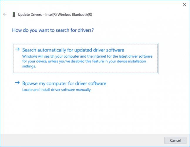 update bluetooth drivers 647x500 DzTechs - كيفية تشغيل أو إصلاح Bluetooth على Windows10 ؟ حل جميع المشاكل