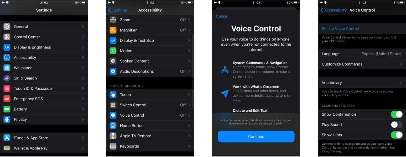 كيفية التفاعل مع جهاز iOS 13 بدون استخدام اليدين من خلال التحكم الصوتي