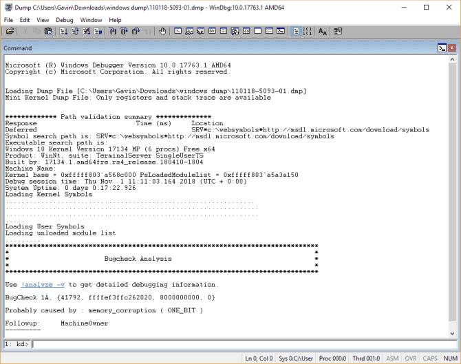 Comment résoudre les erreurs d'écran bleu de la mort à l'aide de WinDbg et BlueScreenView - Windows