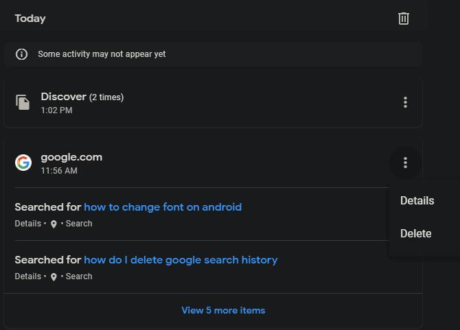 كيف يمكنني حذف عمليات البحث السابقة على Google من السجل تقنيات ديزاد