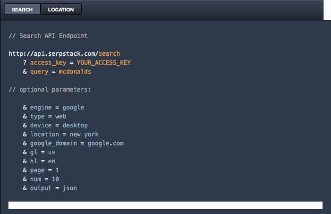 الحصول على بيانات مفيدة من نتائج البحث باستخدام Serpstack API