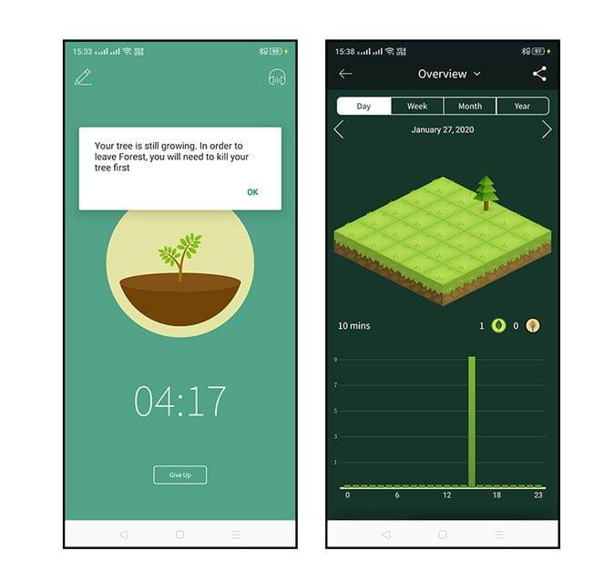 Forest DzTechs - أفضل تطبيقات Pomodoro لأجهزة Android للحفاظ على إنتاجيتك