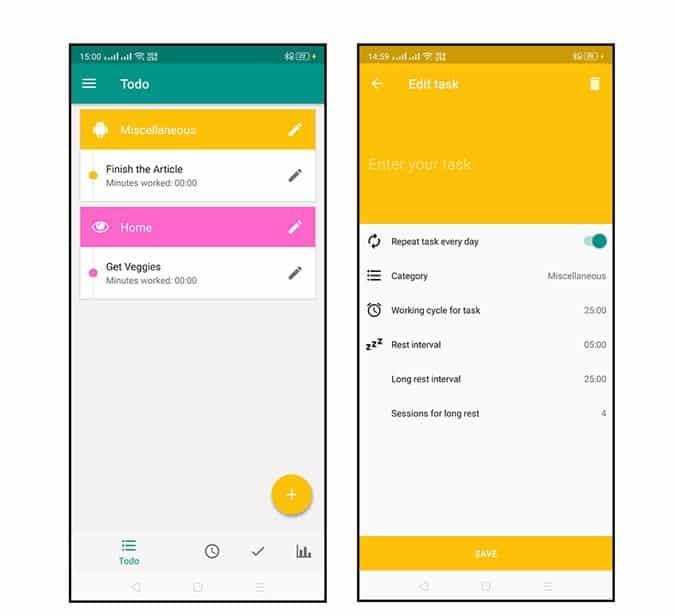 Scheduler DzTechs - أفضل تطبيقات Pomodoro لأجهزة Android للحفاظ على إنتاجيتك