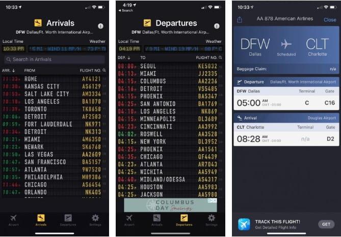 Meilleurs sites Web et applications pour suivre l'itinéraire et les détails des vols - Sites Web Android iOS