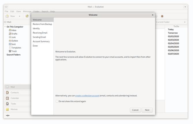 BestLinuxEmailClients Evolution DzTechs - أفضل تطبيقات البريد الإلكتروني لنظام التشغيل Linux يجب أن تجربها في 2020