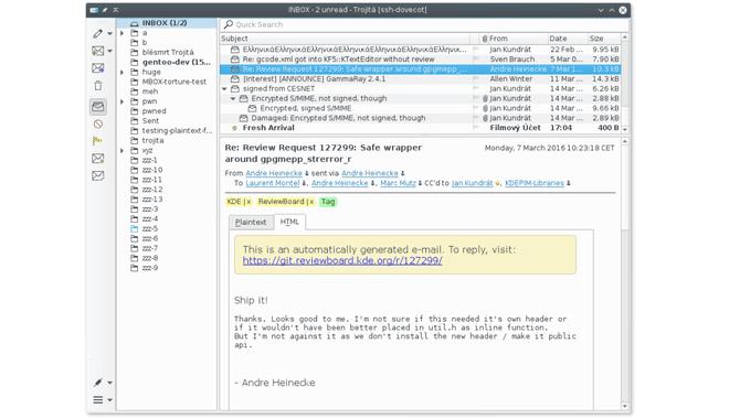 BestLinuxEmailClients Trojita DzTechs - أفضل تطبيقات البريد الإلكتروني لنظام التشغيل Linux يجب أن تجربها في 2020