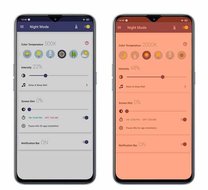 Meilleures applications de filtrage de la lumière bleue pour les appareils Android