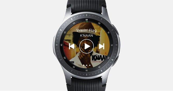 spotify DzTechs - أفضل تطبيقات Galaxy Watch و Active 2 (لسنة 2020)