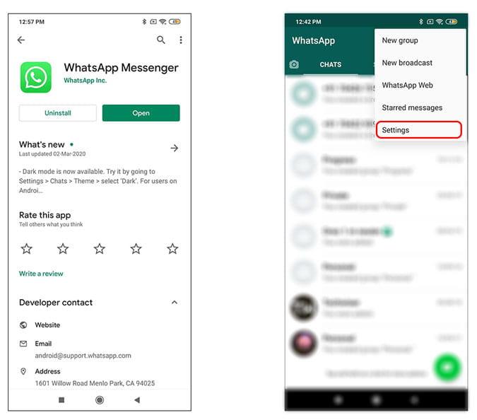 كيفية تمكين الوضع المظلم على WhatsApp لنظام Android  و iOS