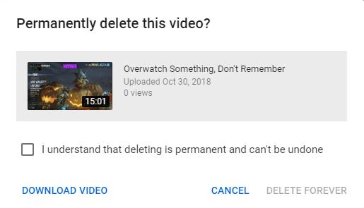 كيفية حذف أو استعادة مقاطع الفيديو من Youtube