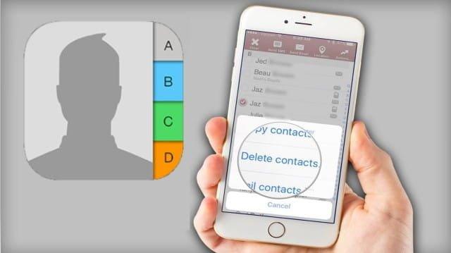 Comment supprimer plusieurs contacts sur iPhone - iOS