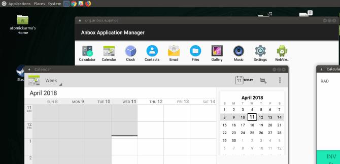 muo linux android anbox calendar DzTechs - كيفية تشغيل تطبيقات وألعاب Android على Linux