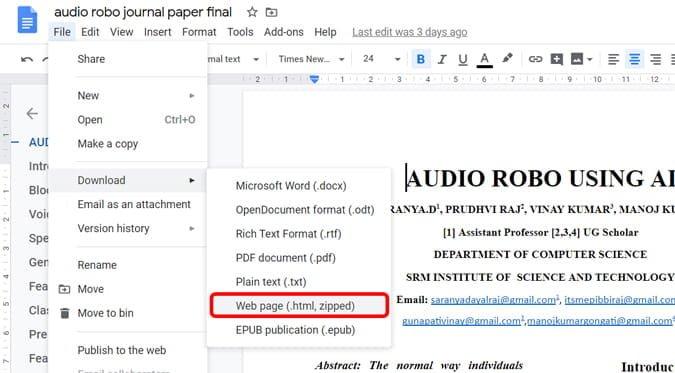 Comment télécharger des images à partir de Google Docs - Google Office Suite