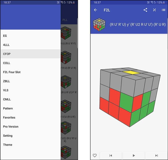 Meilleures applications Rubik's Cube pour Android et iOS - Android iOS