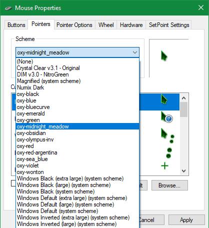 كيفية تخصيص وتغيير مظهر مؤشر الماوس على نظام التشغيل Windows 10 - الويندوز