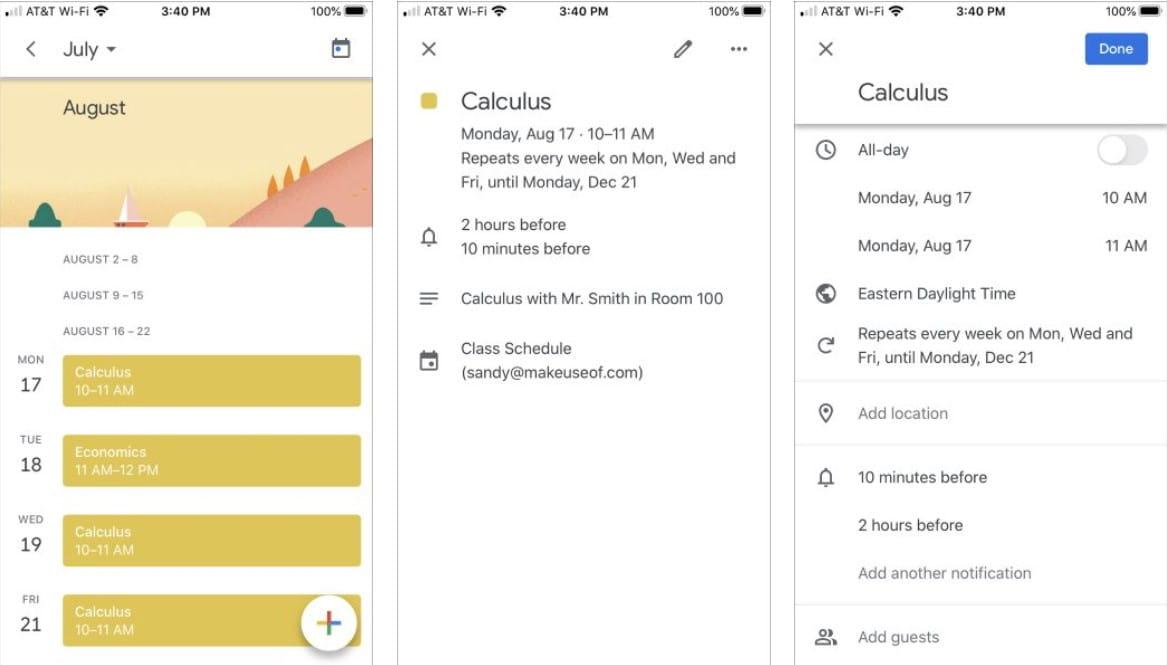 كيفية استخدام تقويم Google لتنظيم جدولك الدراسي