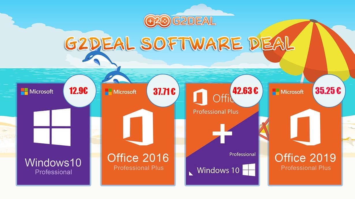 الحصول على ترخيص Windows 10 مقابل 12.9 يورو أو مع Office مقابل 42.63 يورو