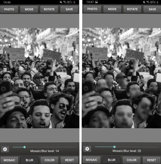Screenshot 20200609 144658 Mosaic Pixelate Censor 1 hHNO0Yfs DzTechs - أفضل التطبيقات لطمس الوجوه وتعتيمها في الصور ومقاطع الفيديو لـ Android و iOS