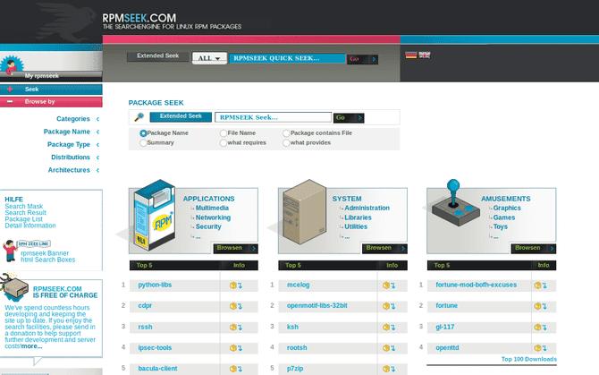 Meilleurs sites Web pour télécharger des applications Linux au format DEB ou RPM
