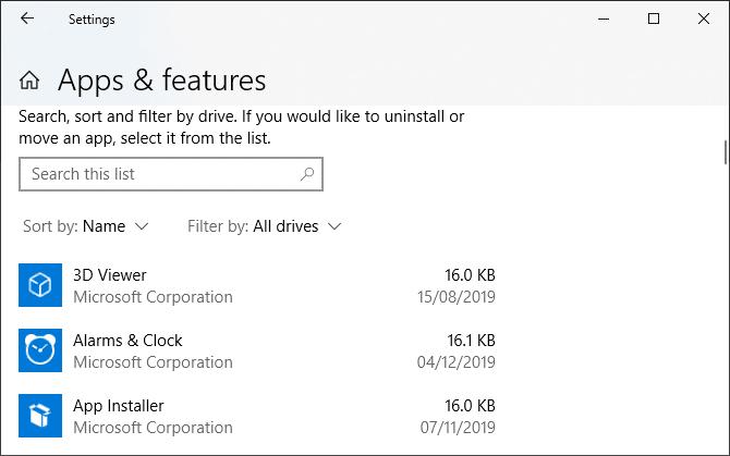 أفضل الطرق لإنشاء قائمة بجميع التطبيقات المثبتة في Windows - الويندوز