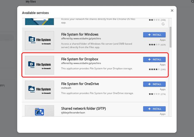 كيفية إضافة Dropbox إلى مدير الملفات في Chromebook