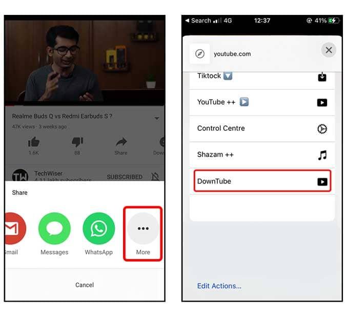 كيفية تنزيل مقاطع فيديو YouTube على iPhone بعدة طرق - iOS